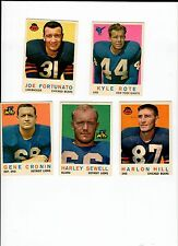 1959 Topps lot of 5 Cards # 7,66,73, 106 and 167. they are in ex/nm condition