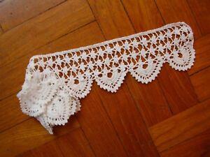 Due Bordi Bordure All Uncinetto Bianco Per Asciugamani Anni 80 Ebay