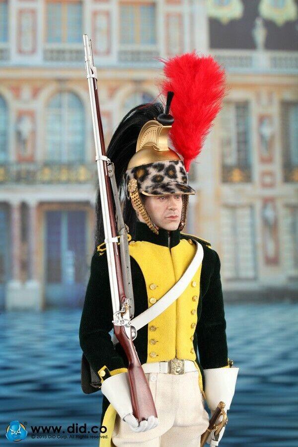 1 6 Ejército Francés Napoleón serie DID Dragón soldado de caballería Figura De Acción