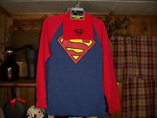 SUPERMAN BOYS SHIRT AND BEANIE SET SIZE XS 4-6 KIDS SCHOOL WINTER CLOTHES NEW