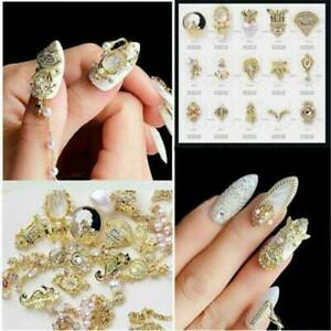3D-Nail-Art-Gold-Pearl-Rhinestone-Alloy-Charms-Decorations-Jewelry-Accessories