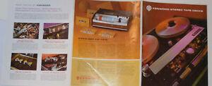 VINTAGE-1971-KENWOOD-STEREO-TAPE-DECKS-BROCHURE-6-HEAD-3-MOTOR-REEL-TO-REEL