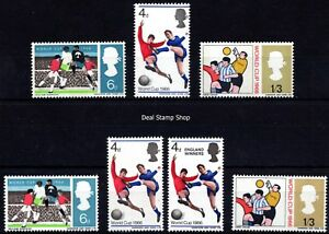 1966-Football-World-Cup-Complete-Ordinary-amp-Phosphor-Issues-Unmounted-Mint