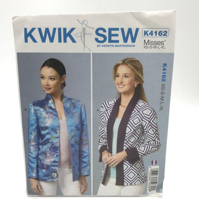 Kwik Sew 4162 Womens Semi Fitted Open Unlined Jacket Size Xs Xl