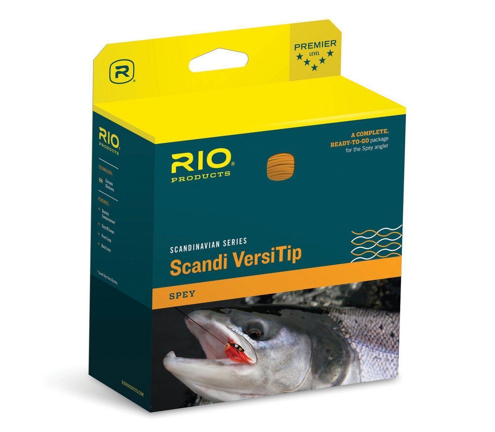 Rio  nuevo Scandi VersiTip  10 650-grano Spey rod Volar Línea Paquete  cuerpo + 4 Puntas  todos los bienes son especiales