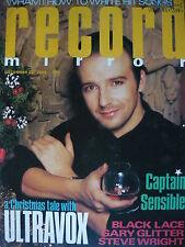RECORD MIRROR 22/12/84 - ULTRAVOX -CAPTAIN SENSIBLE - WHAM!