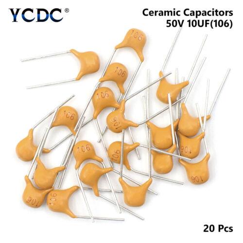 20pcs pack 50v 10pf-10uf monolithic ceramic capacitor pitch 5.08mm 32 values 07