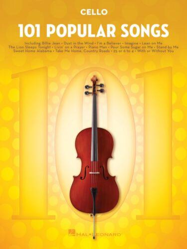 101 Popular Songs for Cello Instrumental Folio Book NEW 000224731