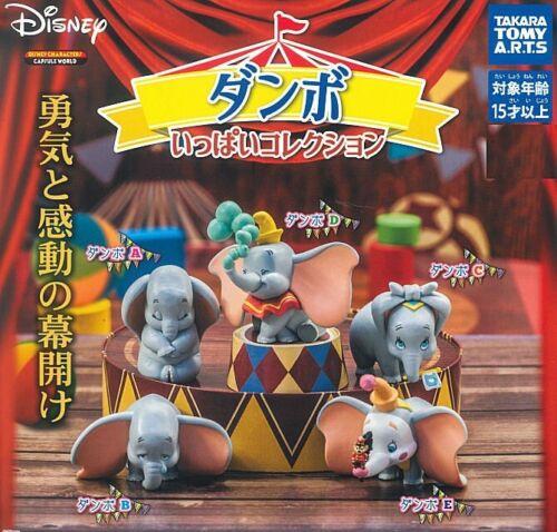 TAKARA TOMY Disney Dumbo 5pcs Set Gashapon mascot toys Gacha Capsule Figurine