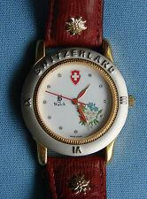VINTAGE & RARE! Jacques Du Manoir Swiss Watch, B-Watch, nastro rosso