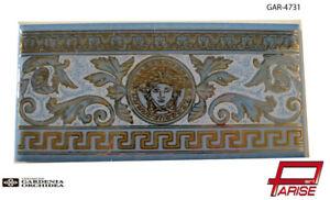 Fascia listello piastrella ceramica versace 1 scelta azzurro