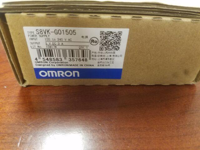 OMRON S8VK-G01505 DC Power Supply, 5VDC, 3A, 50/60Hz