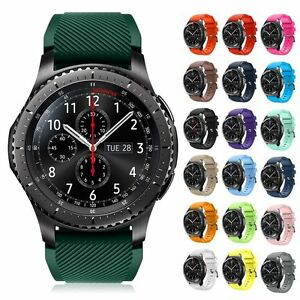 luxury fashion sports silicone band strap bracelet for samsung gear s3 frontier ebay. Black Bedroom Furniture Sets. Home Design Ideas