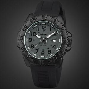 INFANTRY-Mens-Military-Army-Outdoor-Sport-Quartz-Wrist-Watch-Date-Black-Rubber