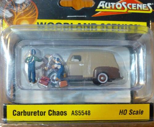 Woodland Scenics AS5548 HO Scale Carburetor Chaos 6PCS New