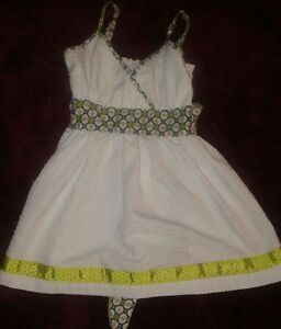 Matilda-Jane-Little-Girls-Sleeveless-Multi-Patterned-White-Dress-Sz-4-Adorable