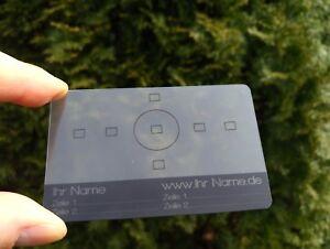 Details Zu Plastikkarten Visitenkarten Pvc Karten Einseitig Farbig Bedruckt Transparent
