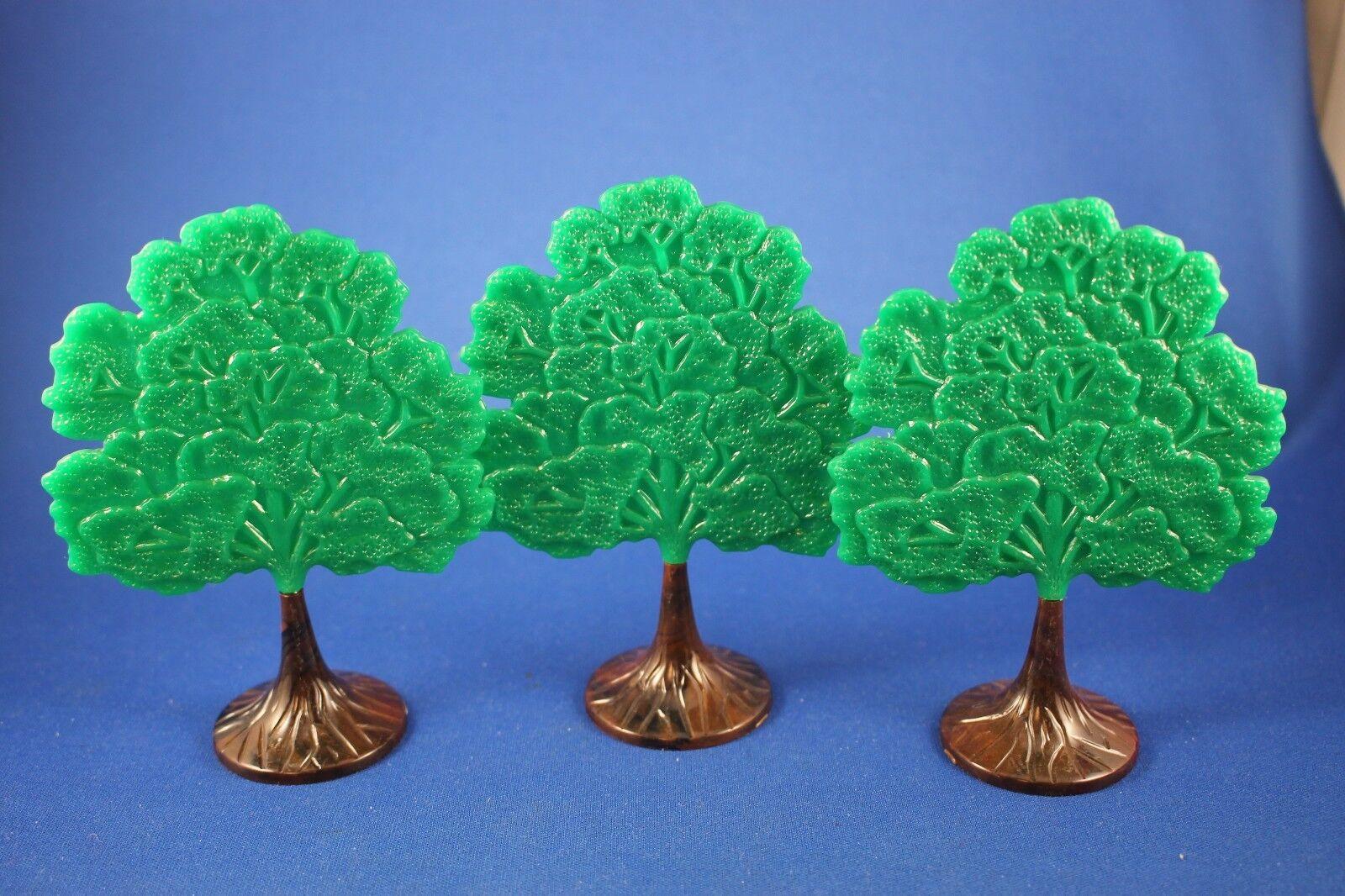 Plasticville - O S MT-2 - Maple Tree (3) - Excellent Condition