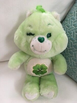 Good Luck Vintage Care Bear Clover 13 inch Plush Toy Stuffed Animal Kenner 1983