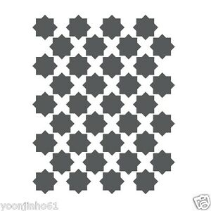 Moroccan Star Stencils Template for Crafting Canvas DIY decor Wall ...
