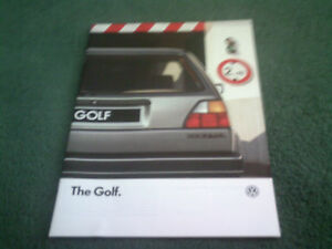 1987-VW-GOLF-C-CL-GL-8-86-24pg-UK-MODEL-BROCHURE-MINT