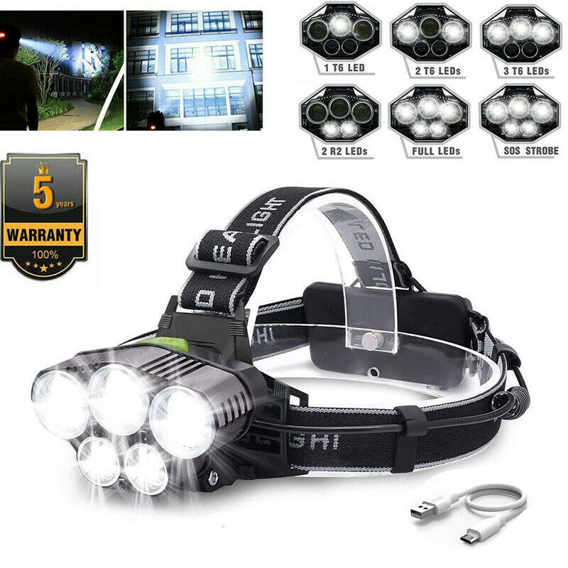 12000LM T6 3x CREE LED Headlamp Head Light Torch Lamp Flashlight Hiking Lights