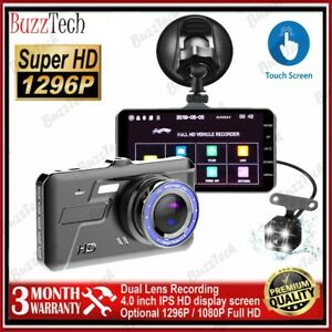 Dash Cam 1080P Dual Lens Touch Screen Car Camera Vehicle
