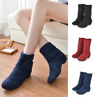 Women's Winter Warm Martin Flat Ankle Snow Boots Lace Up Suede Fur Shoes New
