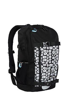 Chiemsee Zaino School Backpack White / Black Lasciamo Che Le Nostre Merci Vadano Al Mondo