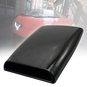 Black 2 NEVERLAND Car Decorative Air Flow Intake Hood Scoop Vent Bonnet Cover