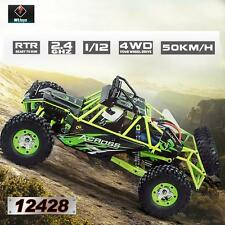100% Hot Wltoys 12428 1/12 2.4G 4WD Electric Brushed Crawler RTR RC Car F3Q4