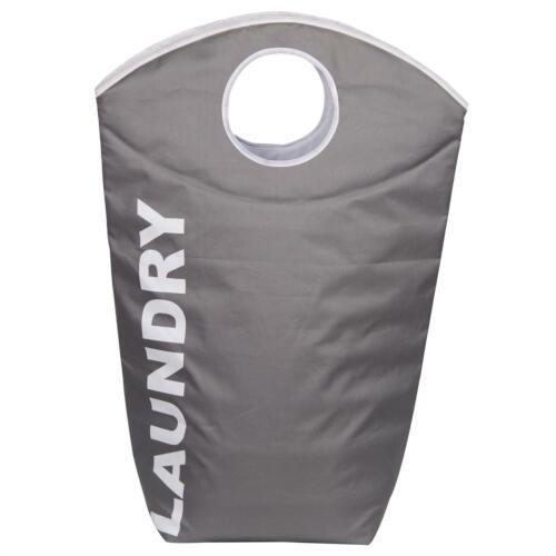 Wäschesammler Wäschesack Korb Box Tonne Sortierer mit Aufdruck in grau oder blau