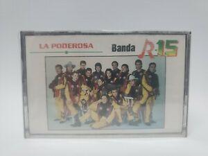 """Banda R-15 """"La Poderosa"""" Cassette Nuevo Sellado 1996 Rare OOP Fonovisa"""