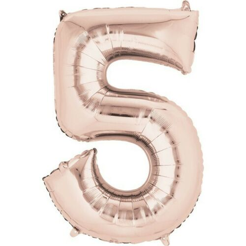 """Foil Number Balloons 14/"""" Self Inflating Air Filled Age Birthday Party Balloon"""