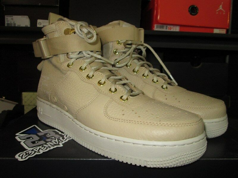 SALE AIR FORCE 1 MID SPECIAL FIELD SF MUSHROOM LIGHT BONE SZ 9.5-13 917753 200