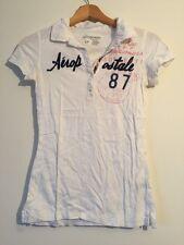 Aéropostale White Polo Shirt Cotton Size S <N618