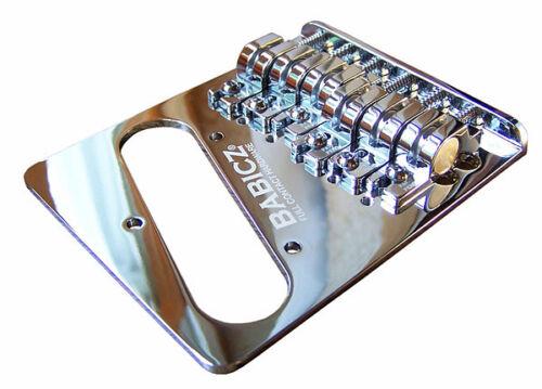 Babicz FCHTELECH Telecaster Tele Bridge Brücke eCam chrom  für 3 und 4 Punkt