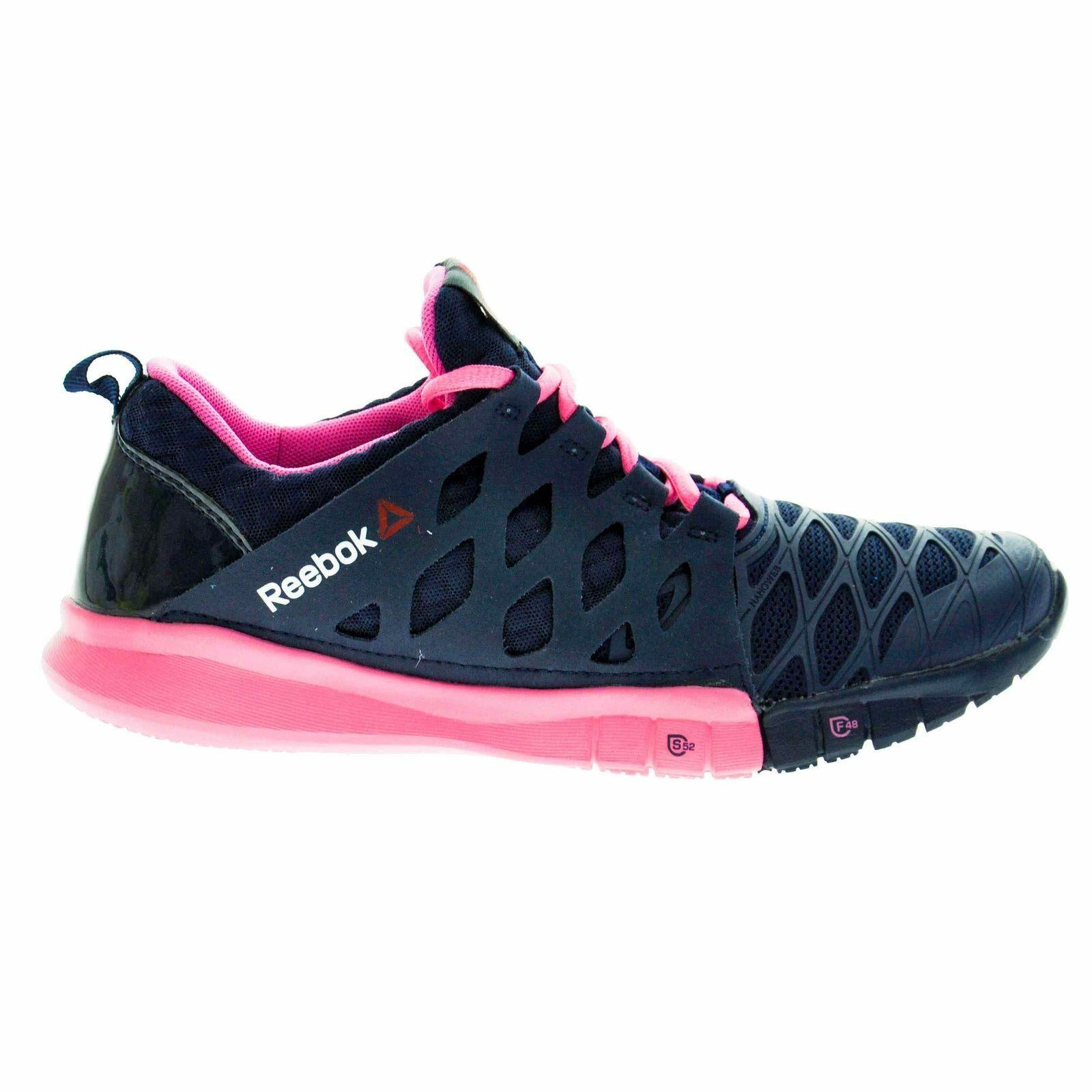 REEBOKWomen's Training shoesZRX TRSize 7 USAM43625Navy Electro Pink PinkNEW