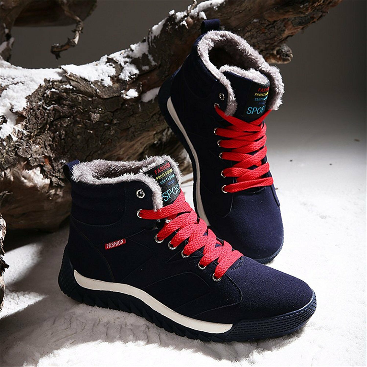 Men Warm Winter Snow Boots Cotton shoes Hot Canvas high-top Boots free shipping