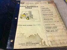 Clark Equipment Cf60 Operation Amp Parts Book Manual Forklift