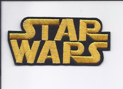 "4/"" STAR WARS Movie logo Embroidered Iron On Patch Star Wars free US shipping"
