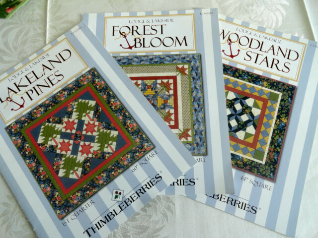 3 EUC Thimbleberries Quilt club patterns for Lakeside and Lodge 1st 3rd 4th