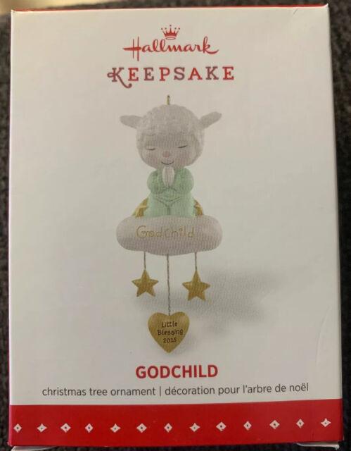 Hallmark 2015 Godchild Lamb Christmas Ornament New | eBay
