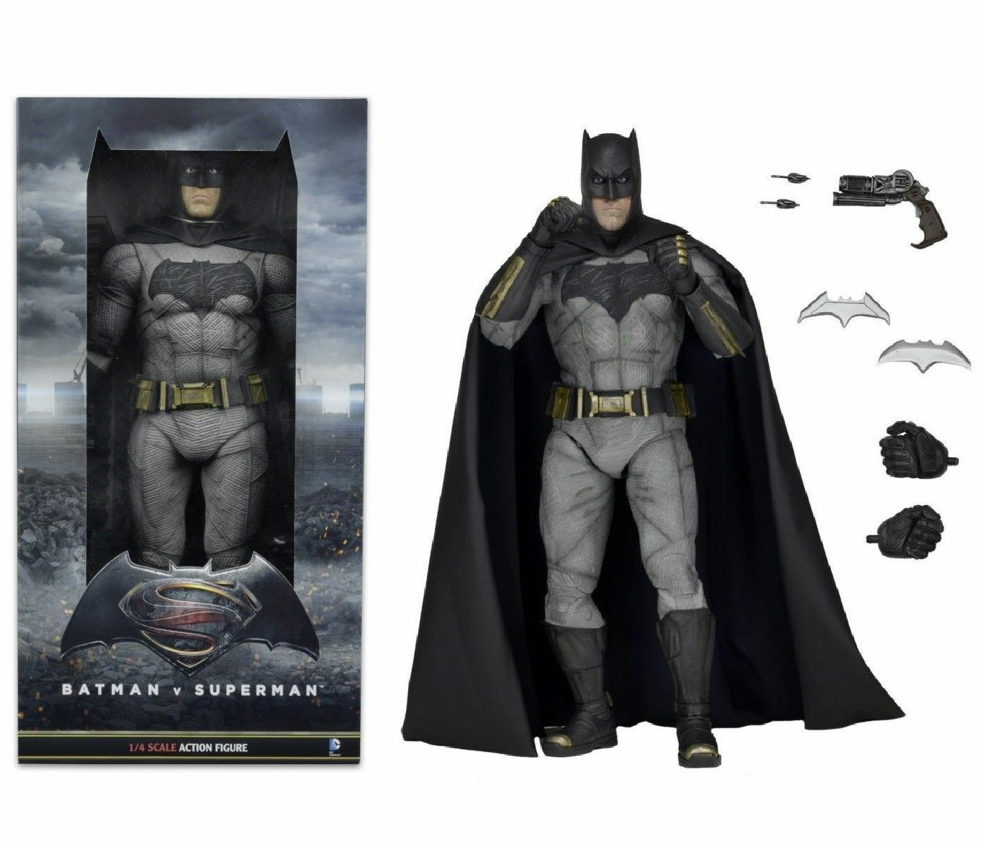 NECA 1 4 SCALA BATMAN SUPERMAN V V V DAWN OF JUSTICE Action Figure di Nuovo Di Zecca in 26107a
