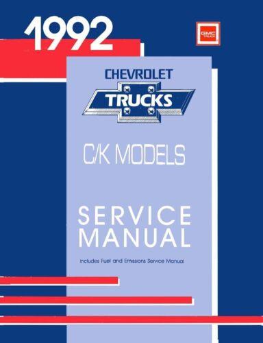 1992 Chevy C/K 10-30 Light Duty Truck Shop Service Repair Manual