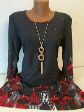 AMY JONES Damen Longshirt Tunika Kleid Anthrazit Gr. 40/42 NEU