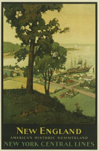 0025 Vintage Travel Art Poster New England