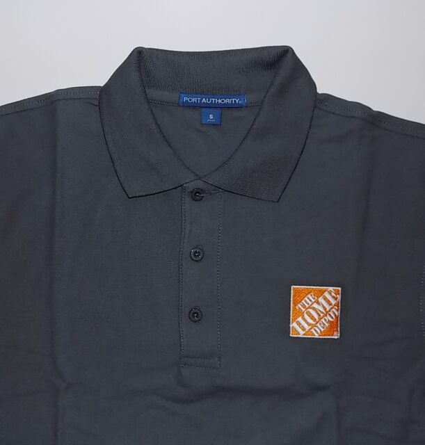 ffec311af83b56 HOME DEPOT SS Men s Steel Gray Embroidered Polo Shirt XS or 3XL -  17.99