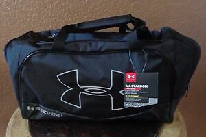 79c637264b Under Armour Storm 1 Water Resistant Duffle Bag Black Gray Small New ...