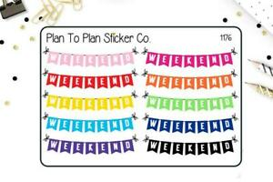 1208~~Day Off Banner Planner Stickers.